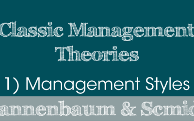 Classic Management Theories: 1) Management Styles