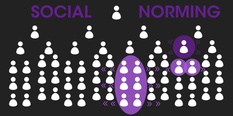 What is social norming?