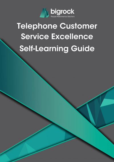 Bigrock Telephone Customer Service Excellence Self-Learning Guide Front Cover
