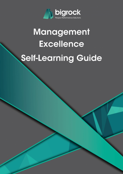 Bigrock Management Excellence Self-Learning Guide Front Cover