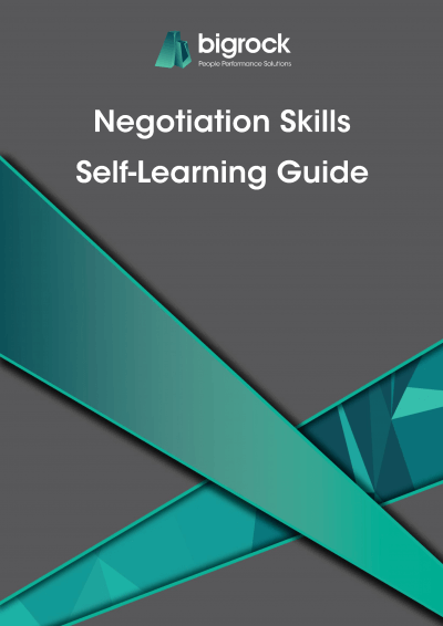Bigrock Negotiation Skills Self-Learning Guide Front Cover