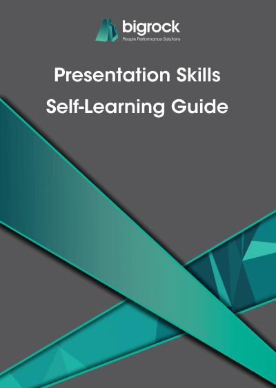 Bigrock Presentation Skills Self-Learning Guide Front Cover