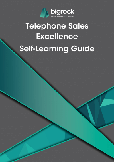 Bigrock Telephone Sales Excellence Self-Learning Guide Front Cover