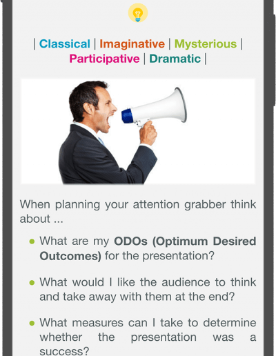 Presentation Excellence - Attention Grabber
