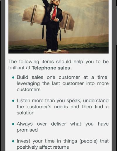 Telephone Sales - Be Brilliant