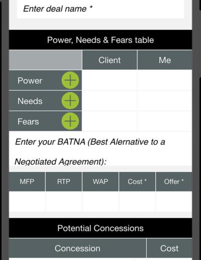 Negotiation - Calculator